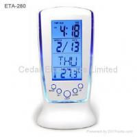 Buy cheap LCD Music Alarm Clock w/ Aurora Flash Backlight from wholesalers