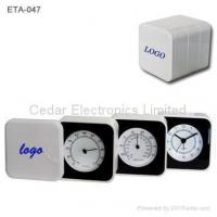 Buy cheap Folding Alarm Clock with Thermometer and Hygrometer from wholesalers