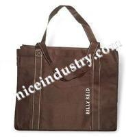 Reusable bags leather woven textile handbag
