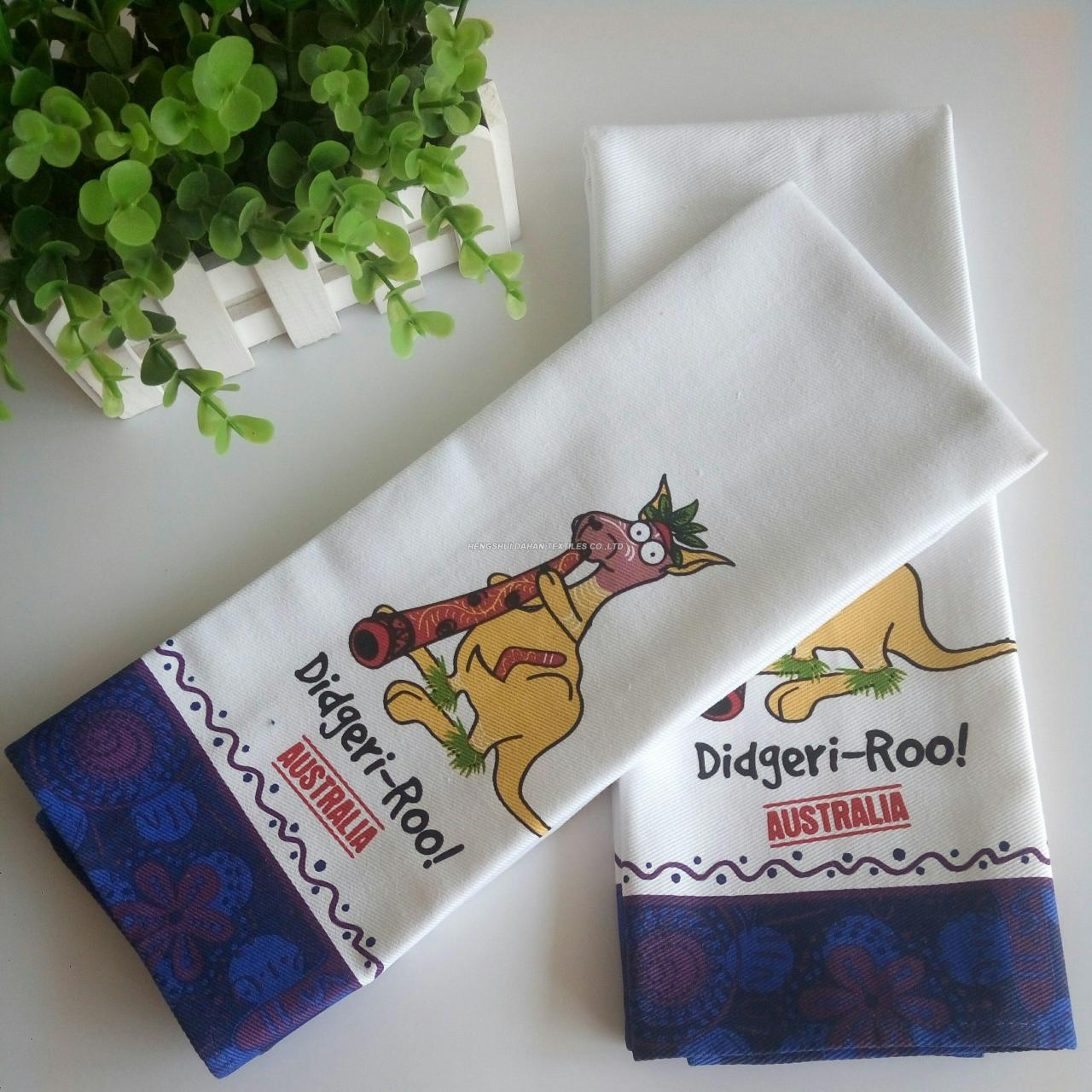 100%cotton fabric printing tea towel ,kitchen towel