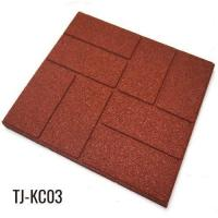 Buy cheap 40cm*40cm Outdoor Recycled Rubber Tiles Patio Pavers from wholesalers