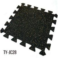 Buy cheap 6mm Black with Colorful EPDM Fleck Interlocking Rubber Floor Tiles from wholesalers