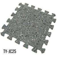 Buy cheap Gray Interlocking Rubber Gym Flooring for Workout Room from wholesalers