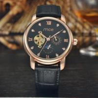Buy cheap custom automatic chinese mechanical movement leather mens watch from Wholesalers