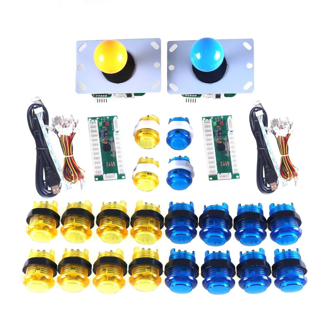 Buy cheap Yellow + Blue Arcade Button and Joystick Zero Delay Kits from wholesalers