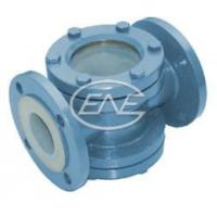 Buy cheap Diaphragm Valve Straight-through Fluorine Lined Visual Glass from wholesalers