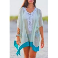 Buy cheap Sexy See Through Lace Patchwork Half Sleeve Beach Cover Up Dress from wholesalers