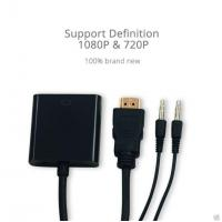 Buy cheap A Type 19PIN HDMI Male to VGA Female Adapter Cable with 3.5mm Audio 1meter Audio Cable from wholesalers