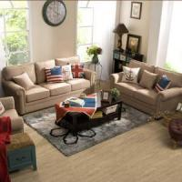 Buy cheap Linen Sofas Curved Armrest Living Room Fabric Sofa Set from wholesalers