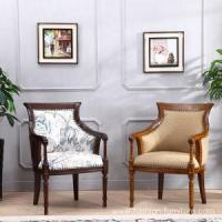 Buy cheap Leisure Chairs Living Room High Back Rubberwood Leisure Chair from wholesalers