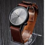 Buy cheap DH5021Black case and PU strap watch for men from Wholesalers