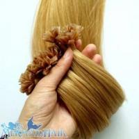 China Flat keratin hair extensions/Italy glue/blond color on sale