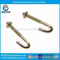 Buy cheap Carbon Steel Color Zinc Plated J Hook Bolts with Nuts from Wholesalers