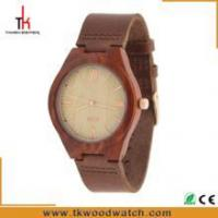 Buy cheap Fashion design Charm leather band japan pc21j movement unisex Red sandalwood watch from Wholesalers