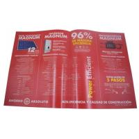 China Custom Glossy Paper Full Color Fold Flyer Printing online on sale
