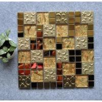 Buy cheap Mosaic Golden Stainless Steel Glass Mosaic from wholesalers