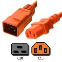 Buy cheap Power Cords Orange C20 to C13 Power Cords 15A, 250V, 14/3 AWG from wholesalers