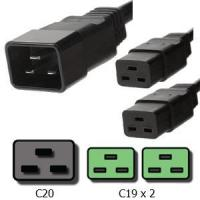 Buy cheap Power Cords C20 to C19 Splitter Cords 20A, 250V, 12/3 SJT Jacket from wholesalers