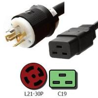 Buy cheap Power Cords L21-30P to C19 Power Cords 20A, 208V, 12/3 SJT Jacket from wholesalers