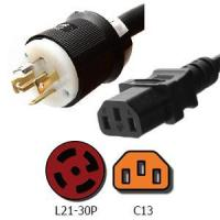 Buy cheap Power Cords L21-30P to C13 Power Cords 15A, 208V, 14/3 SJT Jacket from wholesalers