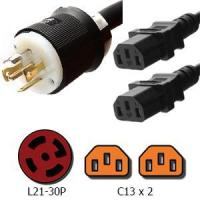 Buy cheap Power Cords L21-30P to 2x C13 Y Splitter Power Cord, 15A, 208V from wholesalers