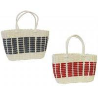 Bags New Retro 1940's 50's style White Red Blue Plastic Beach Picnic Shopping Basket