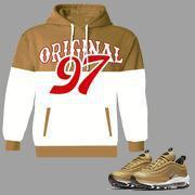 Buy cheap ORIGINAL 97 Pull Over Hoodie to match 97 Air Max Metallic Gold from Wholesalers