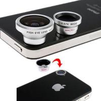 3 Lens Wide Lens and Macro Lens and Fish Eye Lens for Samsung HTC Cell Phones