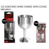BAR ACCESSORY AERATOR WINE SHOWER SET SET OF 2 AERATING WINE FUNNEL W/STAND