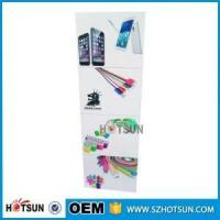 Buy cheap Cell phone accessory acrylic display rack USB cable display rack with sticker covering from Wholesalers