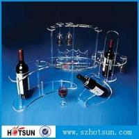 Buy cheap acrylic wine rack, acrylic wine display holder from wholesalers