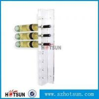Buy cheap Popular Wall Mounted Acrylic Wine Bottle Display champagne display from wholesalers