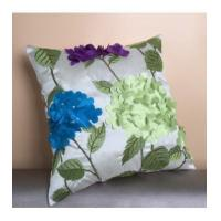 Buy cheap Simulation of the Department of hydrangeas American flowers and pastoral laser burned pillow from Wholesalers