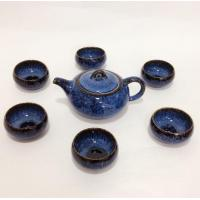Tea Sets Vibrant Blue Reactive Glaze