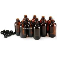 Buy cheap Auropack120ml(4oz)AmberBostonBottlew/Cap,Packof12 from wholesalers