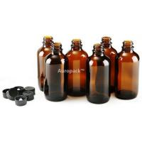Buy cheap Auropack120ml(4oz)AmberBostonBottlew/Cap,Packof6 from wholesalers