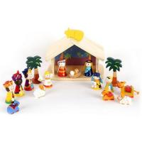 Buy cheap Wooden nativity set for kids from wholesalers