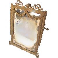 Buy cheap Antique Ornate Cast Iron Vanity Easel Mirror Sold On Ruby from wholesalers
