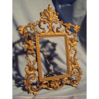 Buy cheap Antique Cast Iron Metal Easel Back Desk Or Mantel Picture Photo Frame Ebay from wholesalers