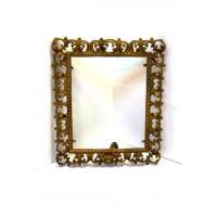 Buy cheap Ornate Cast Iron Metal Picture Frame Iron Rectangular Openwork Scrolls Metal Beaded Border from wholesalers