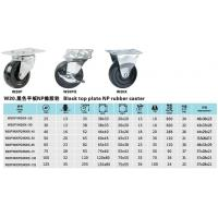 Quality Black fixed NP rubber caster W20P W20X wholesale