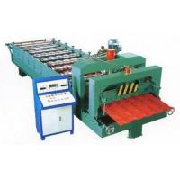 Green Color Glazed Tile Roll Forming Machine With 3 - 6m / Min Processing Speed