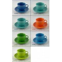 Art Glass CHOICE OF FIESTA CUP AND MATCHING SAUCER SETS