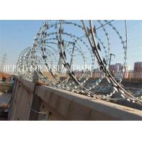 CBT65 Stainless Steel Razor Barbed Wire , 2.5mm Razor Blade Wire For Railway