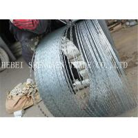 22 mm Length Sharp Razor Barbed Wire Galvanized CBT - 65 Concertina For Fence
