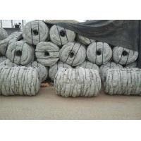 Hot Dip Galvanized Coiled Barbed Wire With Double Twist Q195 Iron Multicolors