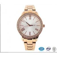 Buy cheap Gold plating ladies watch 3 atm stainless steel back from Wholesalers