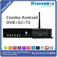Buy cheap Combo Android DVB-S2+T2 Support PowerVU Bisskey Hi3796 4K IPTV & IKS H.265 CCcam HD TV Receiver from wholesalers