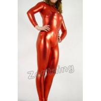Quality zentai Red Shiny Metallic Catsuit Zentai wholesale
