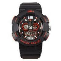 Buy cheap Popular durable mens digital wrist watches In Black And Red Color from Wholesalers